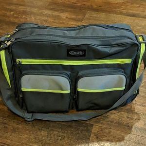 Graco charcoal & green messenger bag